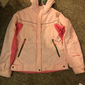 Girls 10-12 Columbia Pink Coat